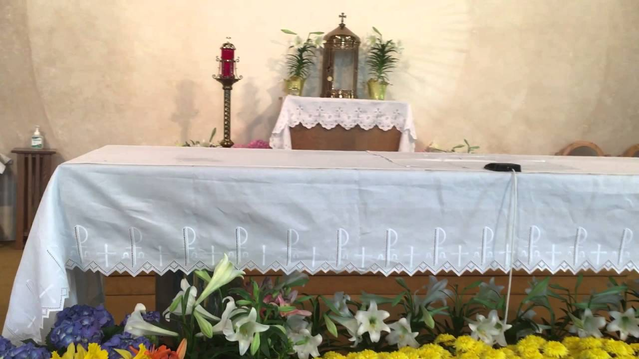 Altar Decorations For Easter At Good Shepherd Church Youtube