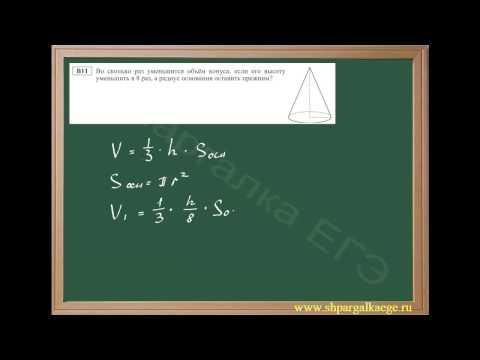 Вычисление объема конуса