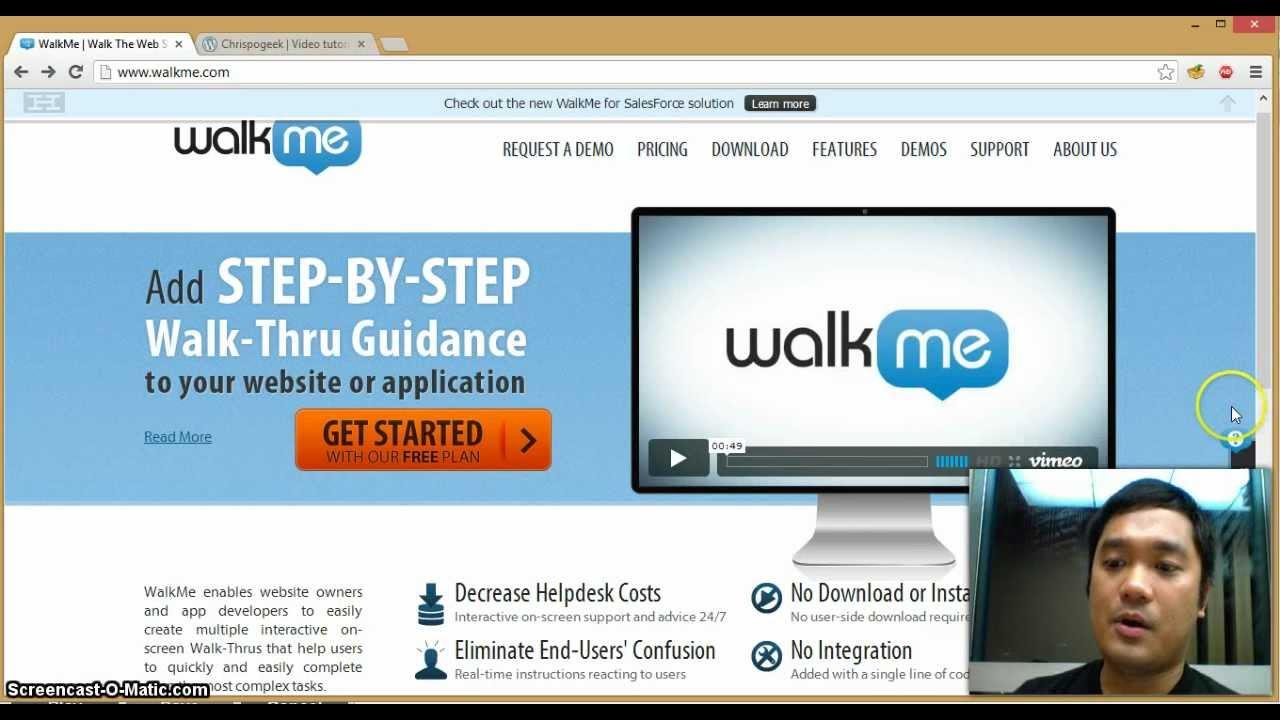 walkme demo youtube