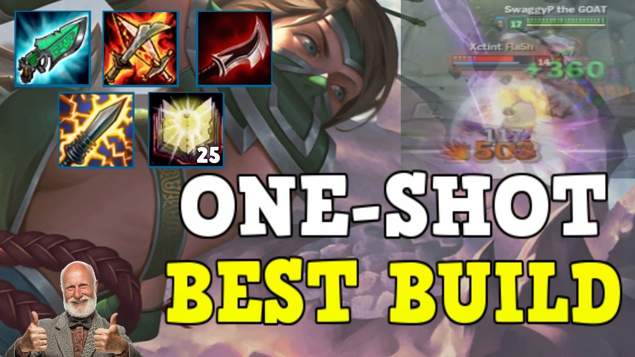 THE BEST/MOST FUN AKALI ONE-SHOT BUILD!! 100-0 ENEMY WITHOUT USING SPELLS!!