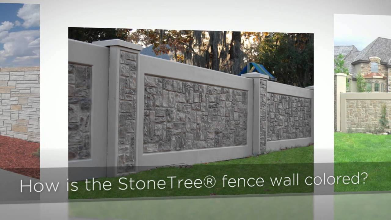 Concrete Fence Panels StoneTree Concrete Fence Wall
