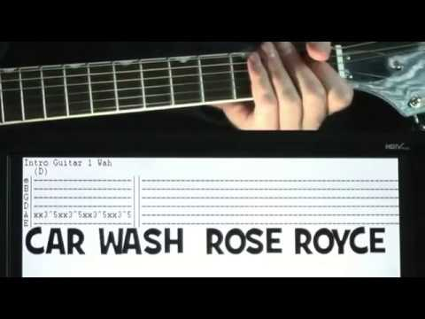 Rose Royce Car Wash Guitar Tab Lesson Youtube