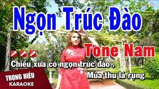 Karaoke Ngọn Trúc Đào Tone Nam Nhạc Sống | Trọng Hiếu