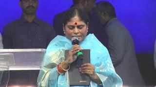 Y.S.Vijayamma Garu Praying for India at Nandyala Crusade 2018