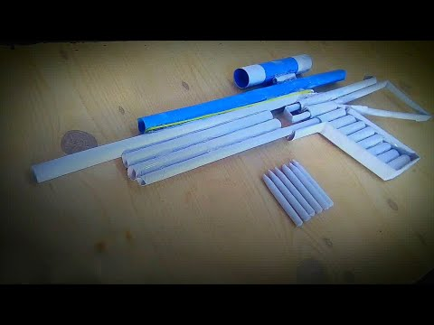 How to make a sniper rifle using paper | paper gun that shoots paper bullets | VM Art Galaxy