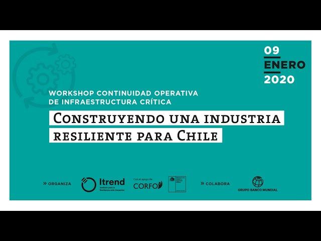 La relevancia de la continuidad operativa - Workshop realizado por Itrend y el Banco Mundial