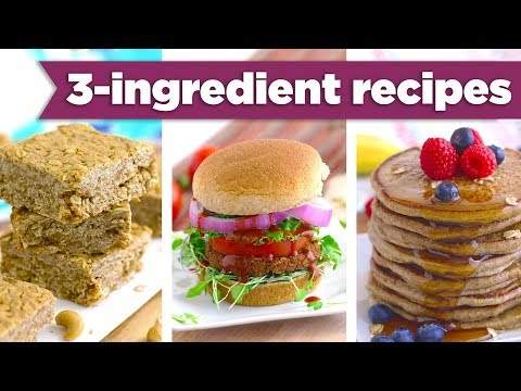 CRAZY 3 Ingredient Healthy Recipes! Sweet & Savory! - Mind Over Munch