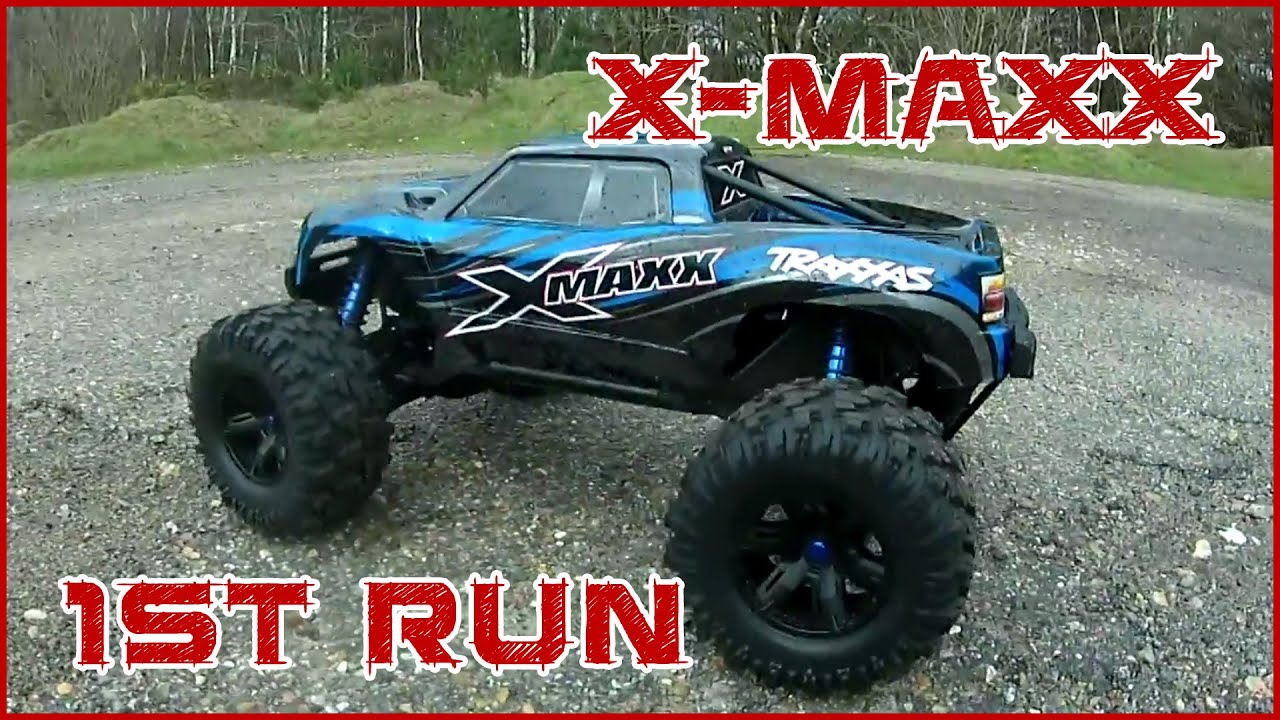 Traxxas X Maxx 1st Run Drag race with Stampede VXL