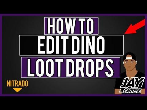 How To Edit Dino Loot Drops ARK - How To Customize Dino Loot - Nitrado ARK  PS4 Server Tutorial