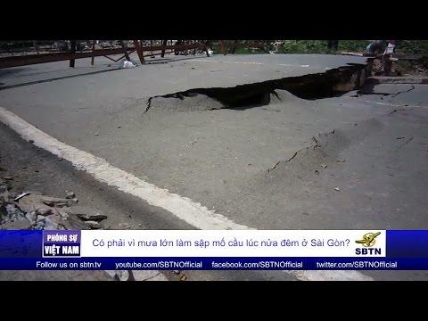 27/08/16 - PHÓNG SỰ VIỆT NAM: Mưa lớn làm sập mố cầu lúc nửa đêm ở Sài Gòn?