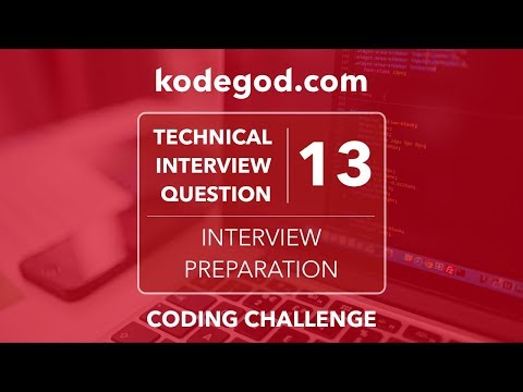 Technical Interview Question 13 ► Can you solve it? [Technical Interview Preparation]