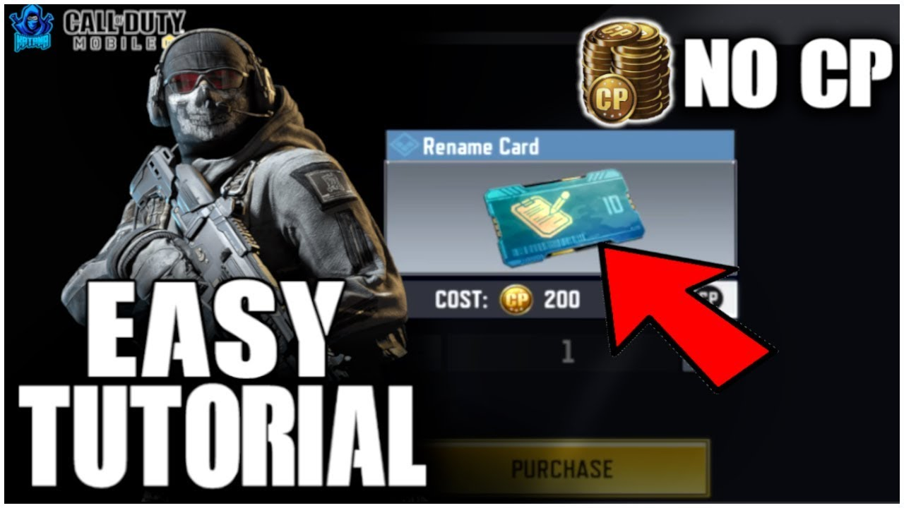How To Get Free Rename Card In Cod Mobile No Cod Points Cp Required Codm Tips Tricks Youtube