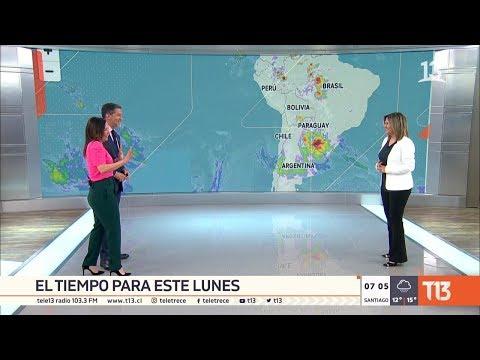 Lluvias y probables tormentas eléctricas: el tiempo para este lunes en Chile