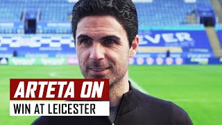 'I'm really proud... we never give up!' | Mikel Arteta post-Leicester interview | Premier League