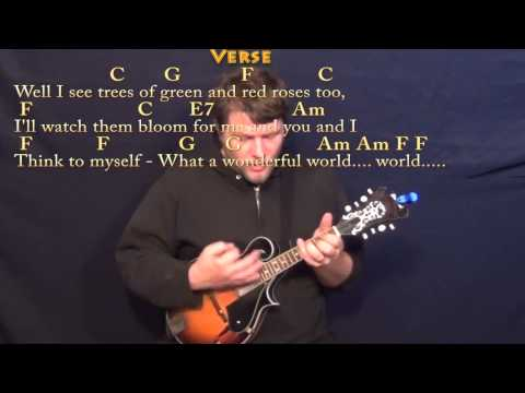 Over the Rainbow/Wonderful World - Mandolin Cover Lesson with Chords ...