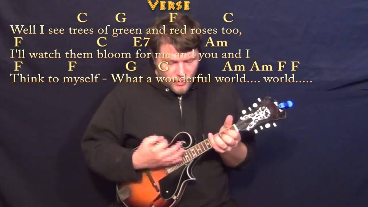 Over the Rainbow/Wonderful World - Mandolin Cover Lesson with Chords/Lyrics