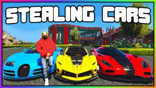 GTA 5 Roleplay - STEALING EVERY CAR FROM REDLINE | RedlineRP