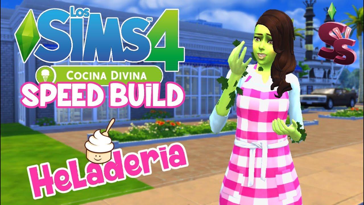 speed build heladeria los sims 4 cocina divina con julia - Cocina Divina