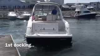Twin engine Boat  Docking  7 Times - In 4 Minutes