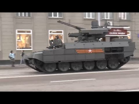 Newest Russian military equipment at the Victory parade rehearsal