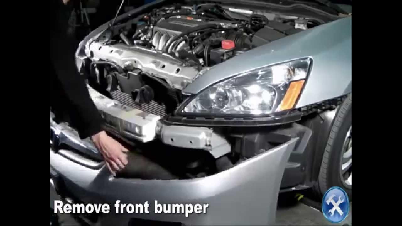 specdtuning installation video 2006 2007 honda accord sedan fog lights mp4 youtube [ 1280 x 720 Pixel ]
