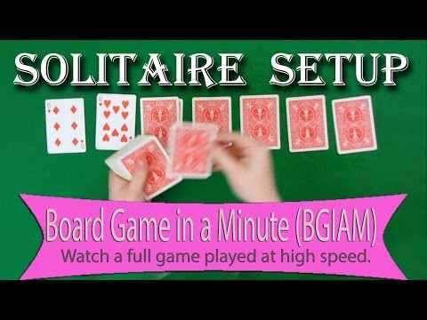 Solitaire (Klondike) Setup - Board Games in a Minute (BGIAM)