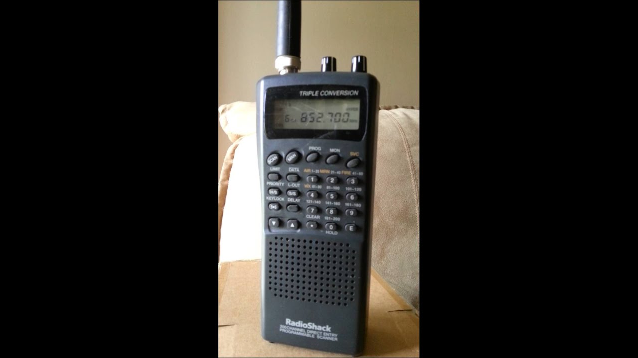 radio shack pro 67 scanner in action youtube rh youtube com Radio Shack Race Scanner Manual Radio Shack 1000 Channel Scanner