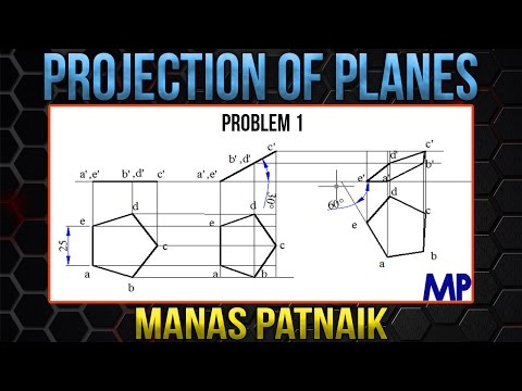 PROJECTION OF PLANES_Lecture 1 -  Pentagonal Plane with surface & edge inclined to HP & VP