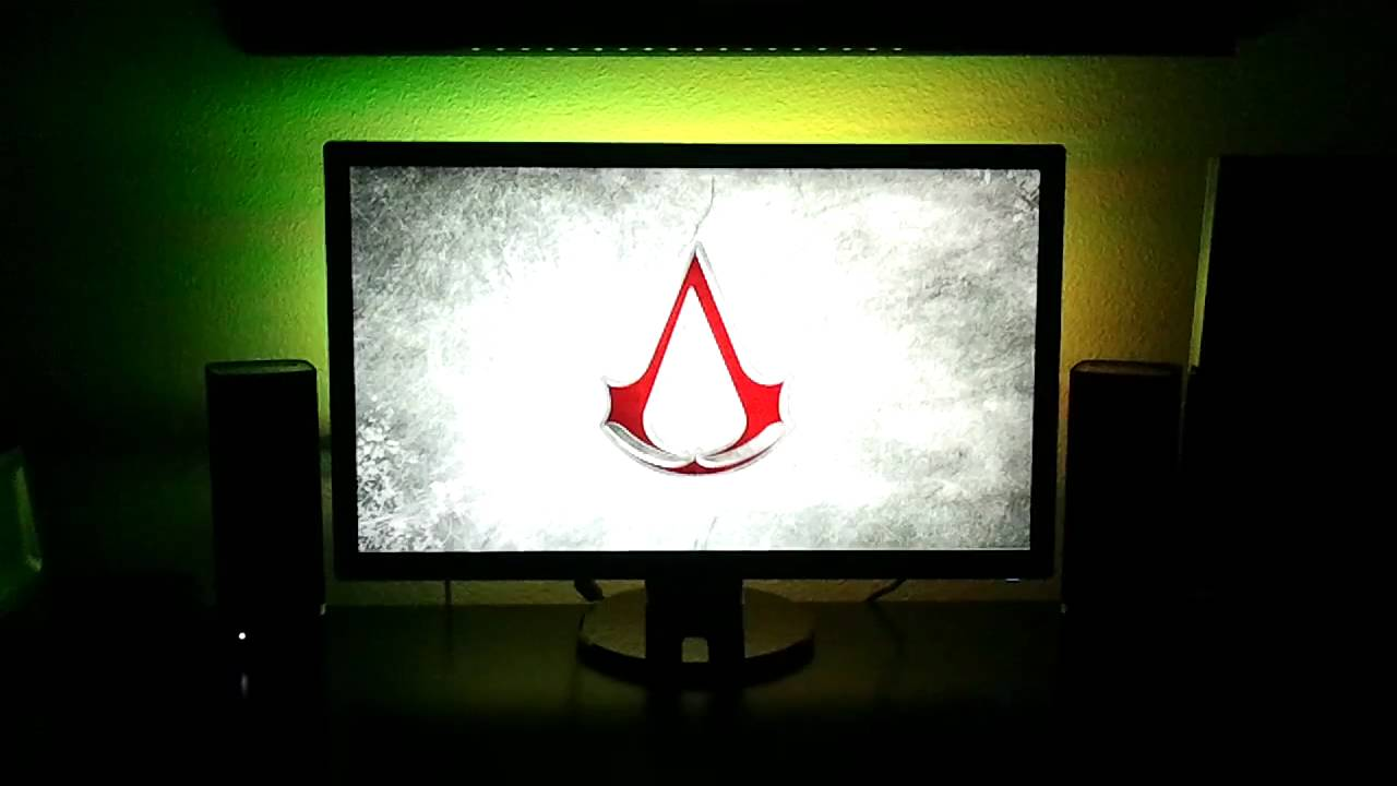 Ikea Dioder Led Backlight For Asus 27 Inch Monitor Youtube