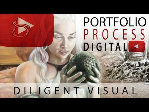 Video Slide Show of Current Projects (My Digital Painting Process)