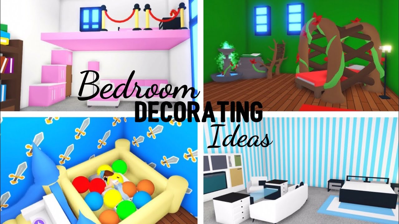 4 Custom Bedroom Design Ideas Building Hacks Roblox Adopt Me Its Sugarcoffee Youtube