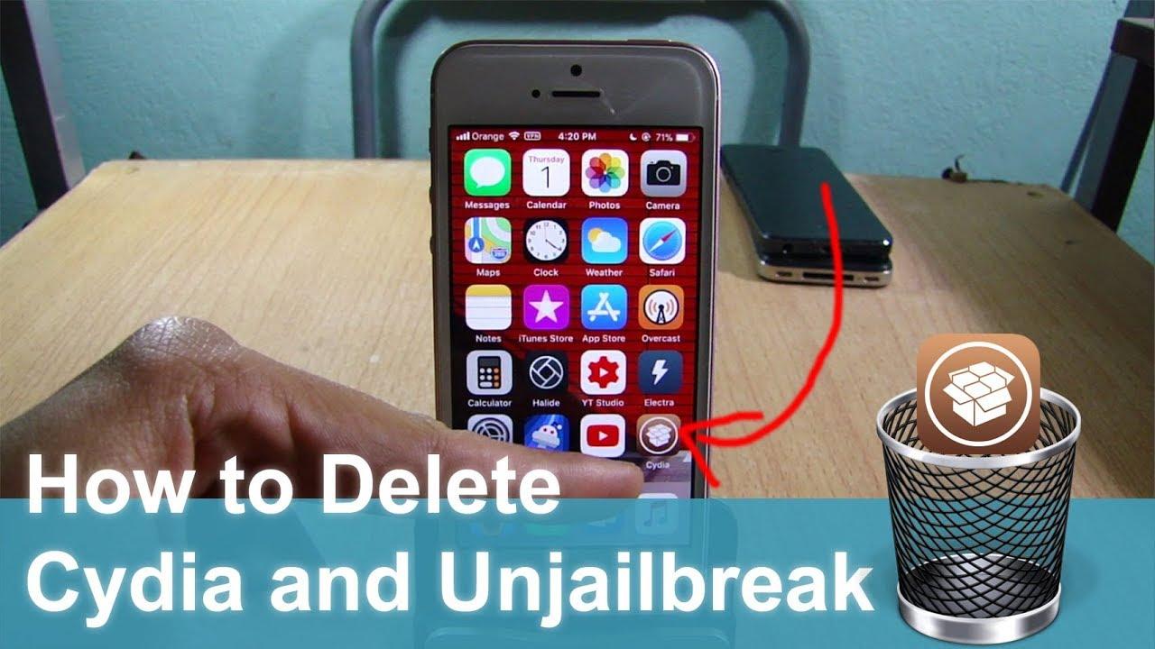 How to Delete Cydia and Electra Jailbreak on iOS 11 - 11 4 1