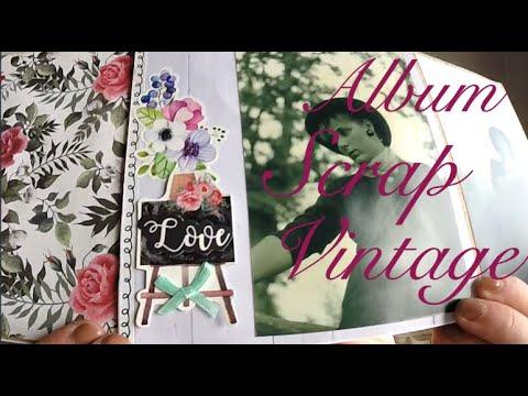 Album Scrap à Base D'enveloppe Vintage