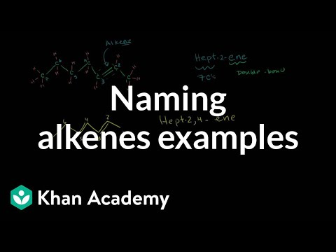 Naming alkenes examples | Alkenes and Alkynes | Organic chemistry | Khan Academy