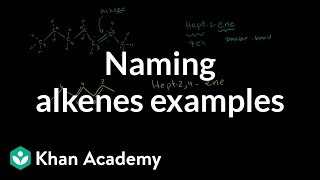 Naming Alkenes Examples(Naming Alkenes Examples More free lessons at: http://www.khanacademy.org/video?v=KWv5PaoHwPA., 2010-07-22T19:20:36.000Z)