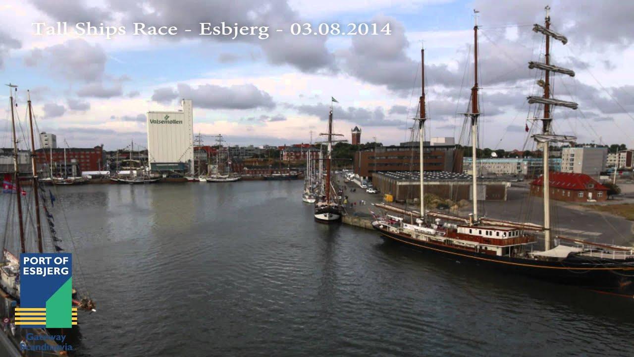 Esbjerg Havn Dokhavnen Tall Ships Races August 2014 Kort