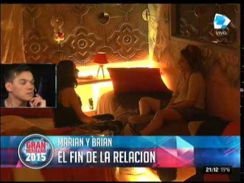 #GH2015: Marian, entre la risa y el llanto tras el mensaje de Brian