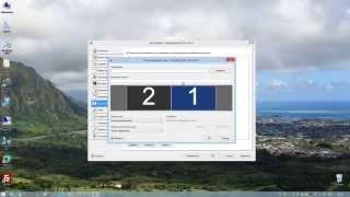 Программа Display Fusion настройка двух мониторов часть2