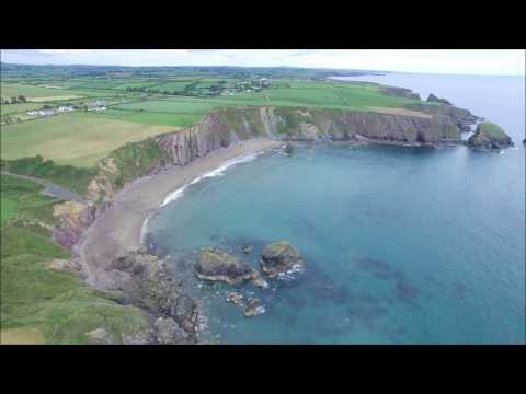Aerial views of SE Ireland, Co. Tipperary, Co. Wexford and Co. Waterford.