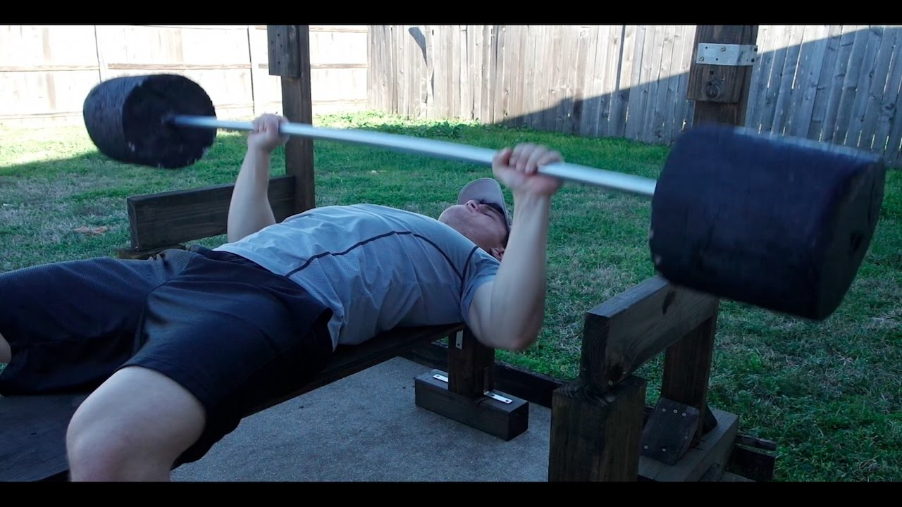 Homemade Weights Bench Press Barbell Review Youtube