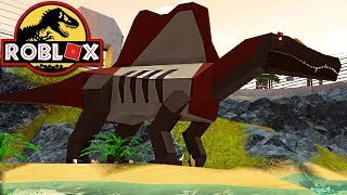 Jurassic Tycoon Roblox-hunting a Spinosaurus, The Park! | Dinosaurs (#1) (en)