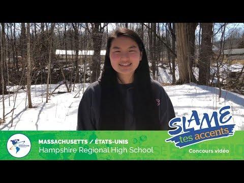 Slame tes accents 2019 - Groupe B, Hampshire Regional High School au Massachusetts