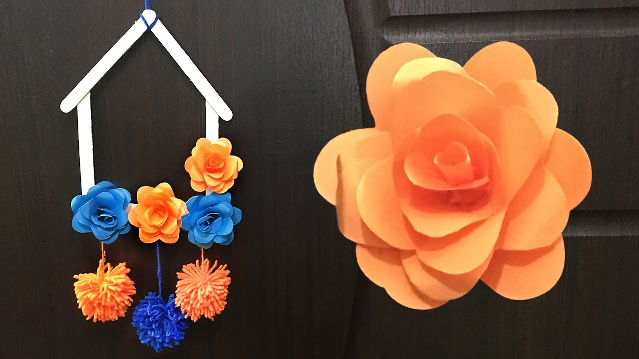 Paper Flower Wall Hanging Craft Ideas Diy Paper Flowers Wall