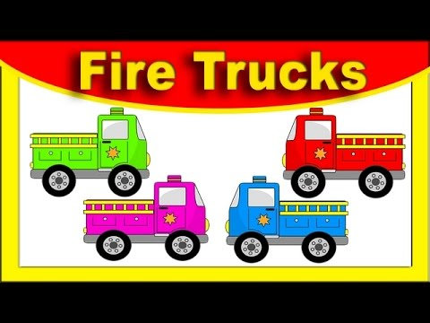 Monster Fire Trucks - Learning Colors WITH Street Vehicles ...