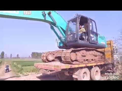 KOBELCO sk210 HD self truck unloding in india#