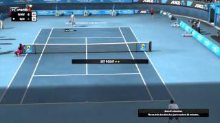 Top Spin 4 - Wawrinka (Marce) vs Djokovic (CPU) 7-5 6-3 (Hard Mode) [HD 1080p]