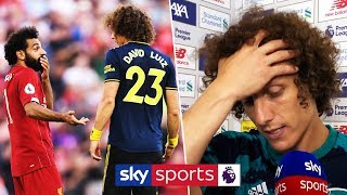 David Luiz explains 'shirt pull' penalty incident on Mo Salah | Liverpool 3-1 Arsenal