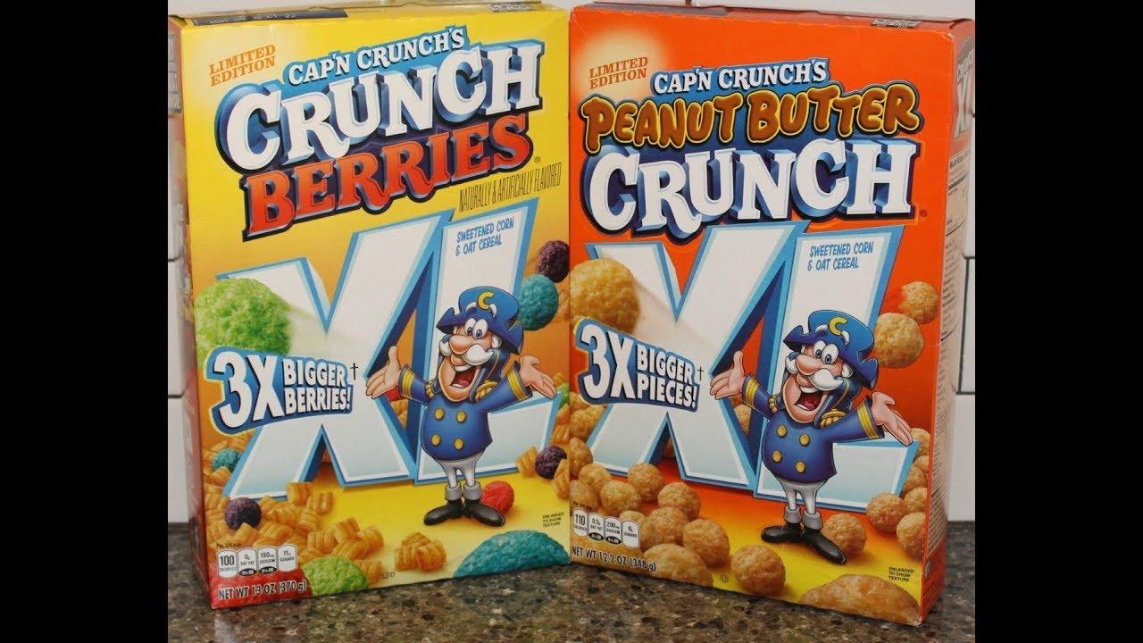 Cap'N Crunch's Crunch Berries 3X Bigger Berries & Peanut Butter Crunch 3X  Bigger Pieces Review