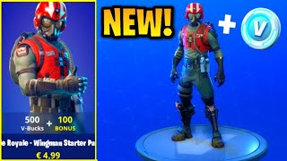 Nouveau PACK WINGMAN STARTER dans Fortnite Battle Royale! Nouveau STARTER PACK! (New Fortnite Skins)