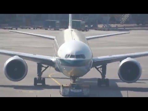 Hong Kong Chek Lap Kok Airport HKG / VHHH plane spotting #1 HD